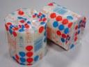 Mydło w kostkach pakowane w folię termokurczliwą na poziomej maszynie pakującej (HFFS).