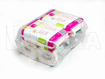 Produkty do higieny pakowane na poziomej maszynie pakującej (HFFS).