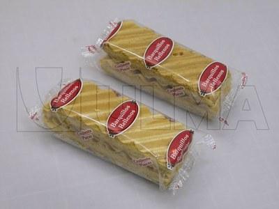 Wafle pakowane na poziomej maszynie pakującej (HFFS).
