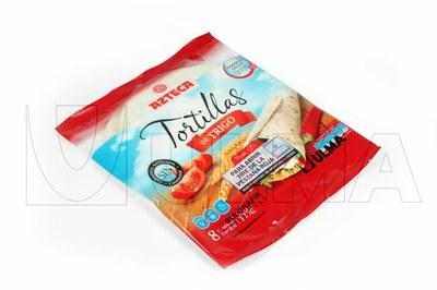 Tortille pakowane w opakowanie ponownego zamknięcia typu Flap Pack w atmosferze modyfikowanej (MAP).